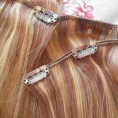 Extension capelli colorate clip